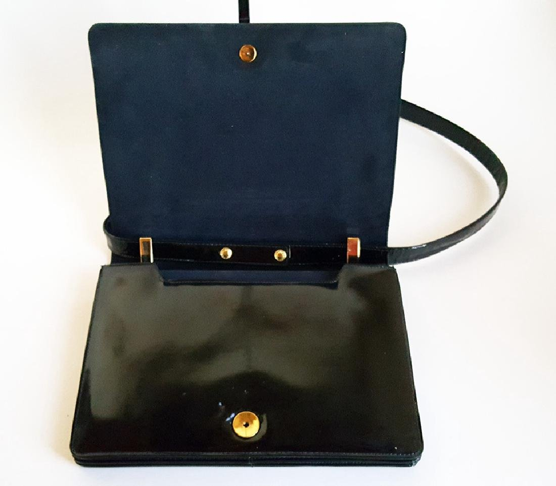 Saks Fifth Avenue Patent Leather Bag, ca. 1970's - 4