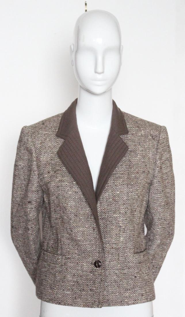 Louis Feraud Tweed Jacket, ca. 1990's.