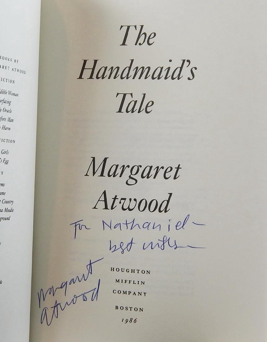 Handmaid's Tale Signed First Printing Margaret Atwood - 4