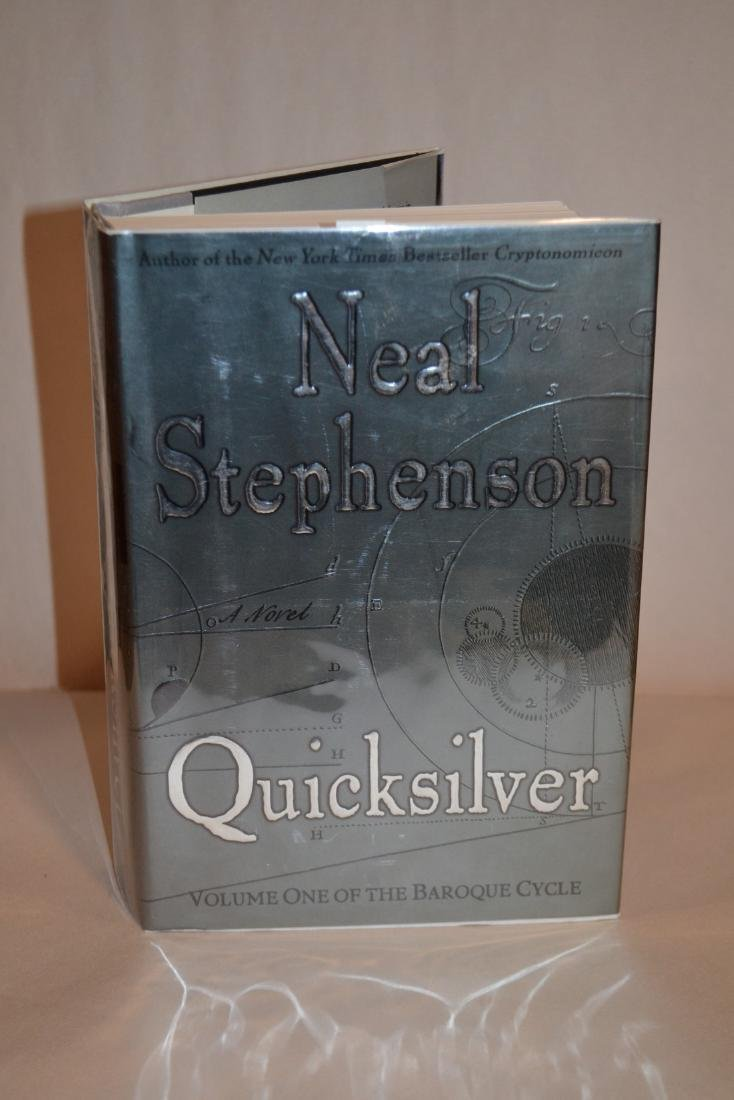 Quicksilver Inscribed 1st Edition Stephenson, Neal