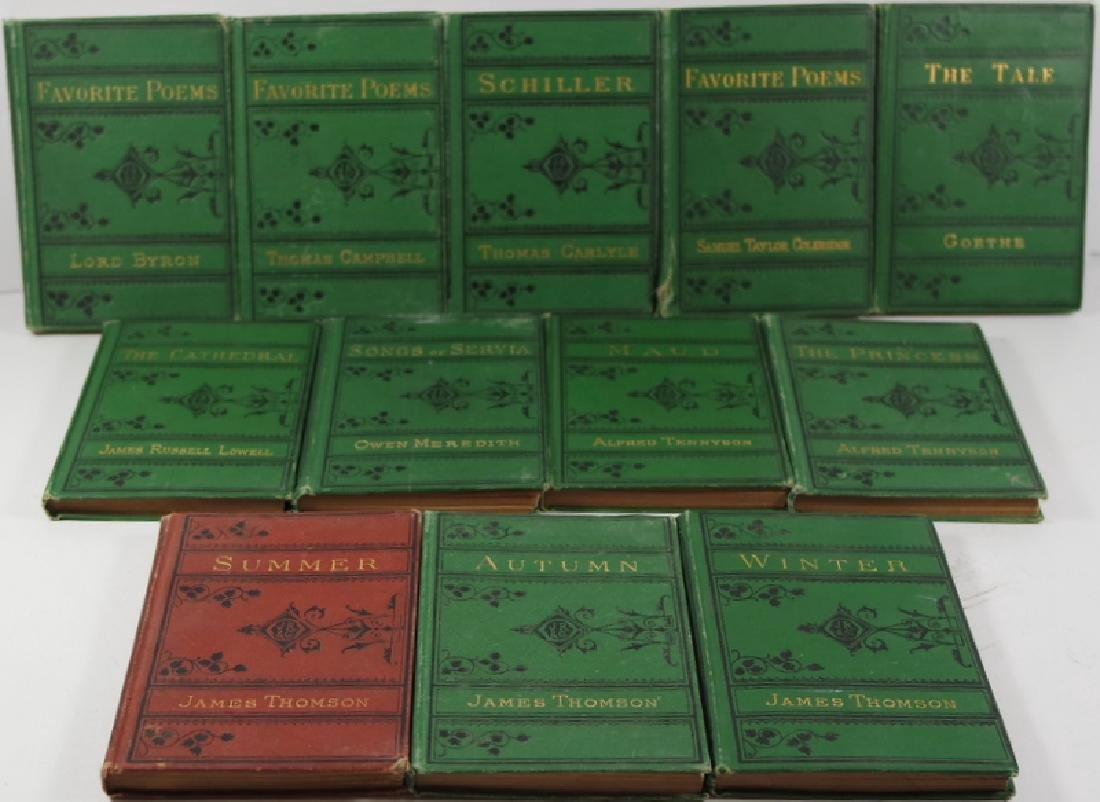 Collection of 12 Antique Vest-Pocket Series Books 1877