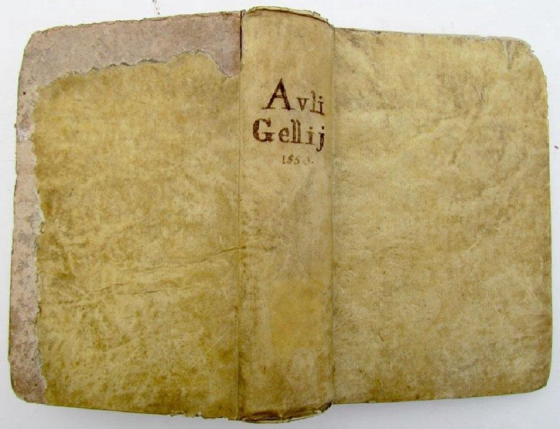 1550 Vellum Bound Antique Aulii Gellii Luculentissimi