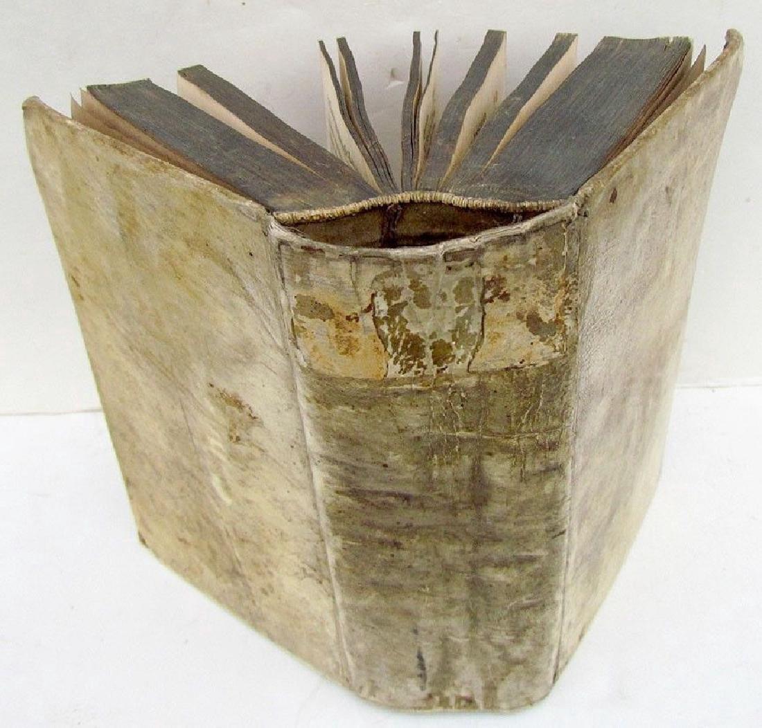 1749 Antique Vellum Bound German Book