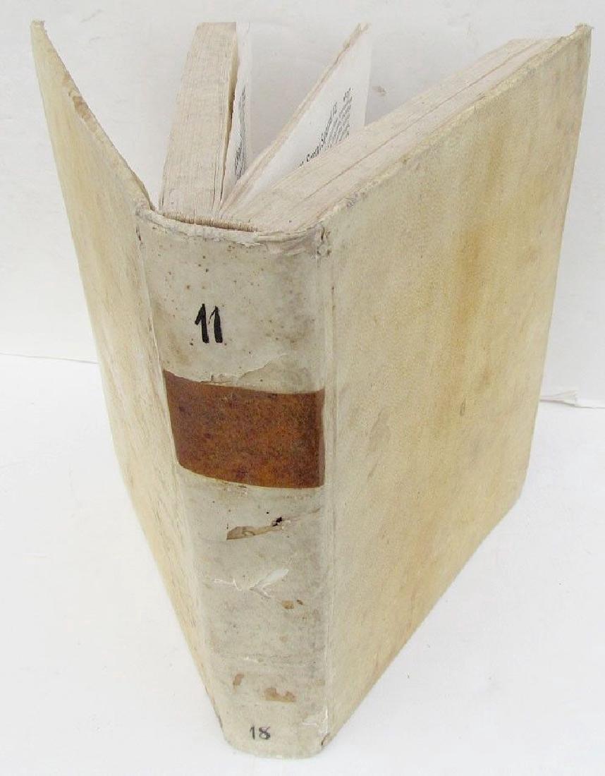 1736 Antique Vellum Bound Book Lezioni Sacre by Zucconi