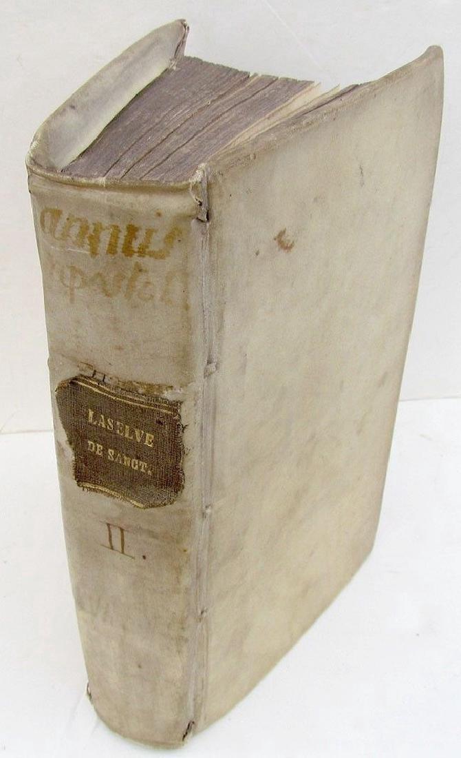 1708 Antique Vellum Bound Book Annus Apostolicus Seu
