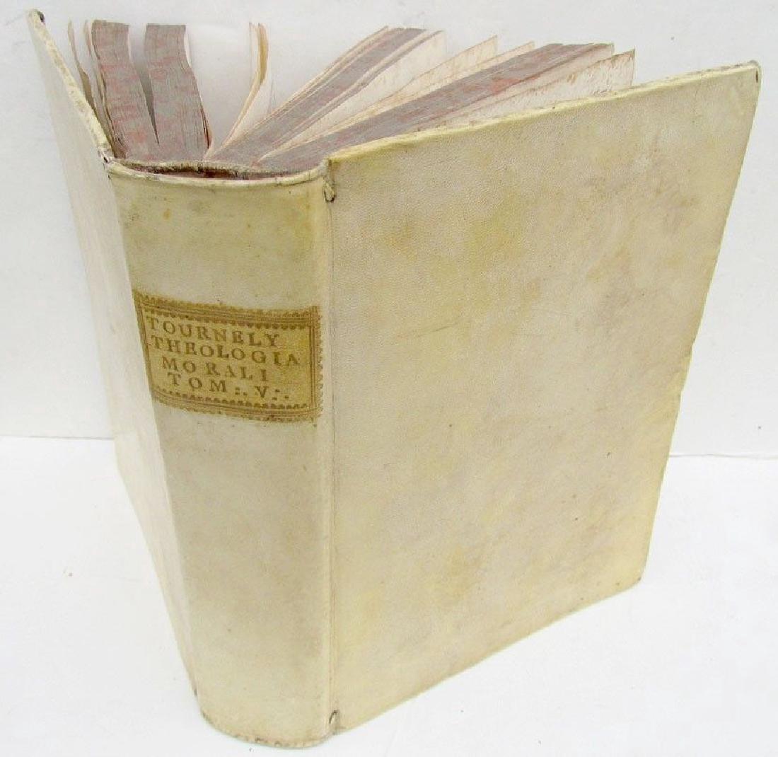 1751 Antique Vellum Bound Book Tourneli Theologia