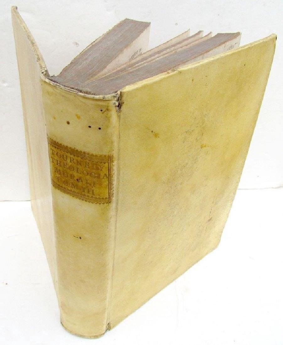 1755 Antique Vellum Bound Book Tourneli Theologia