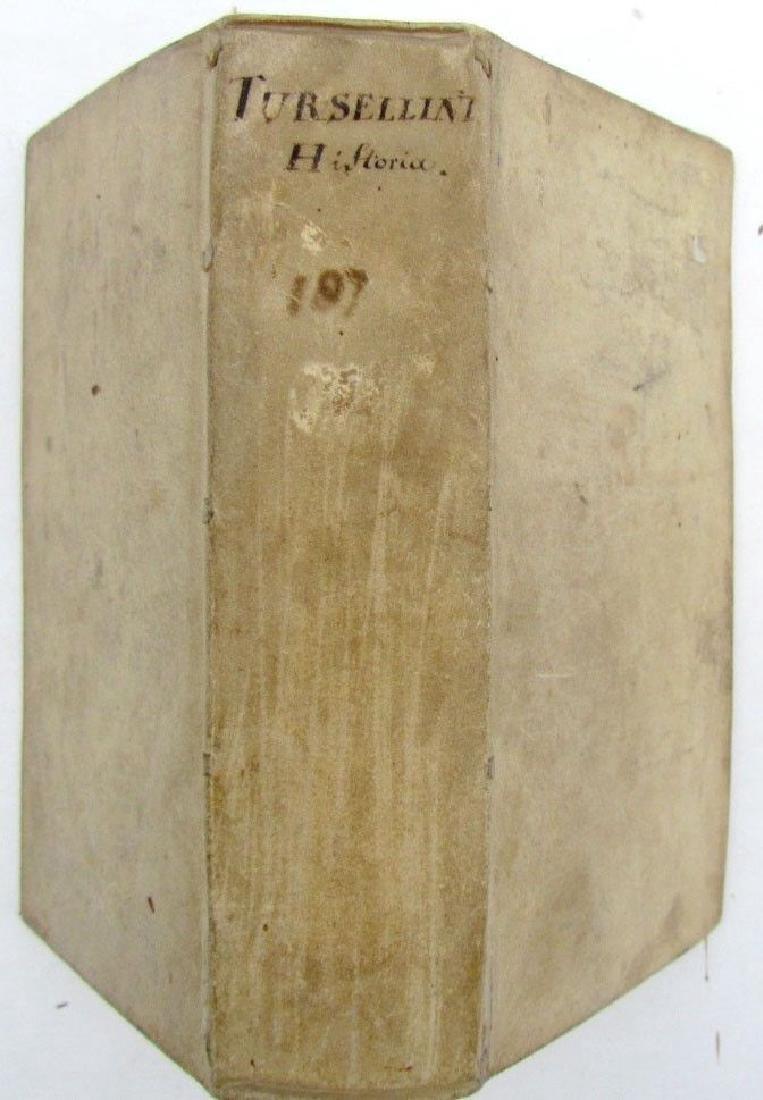 1678 Vellum Bound Antique Book Tursellini Roman History