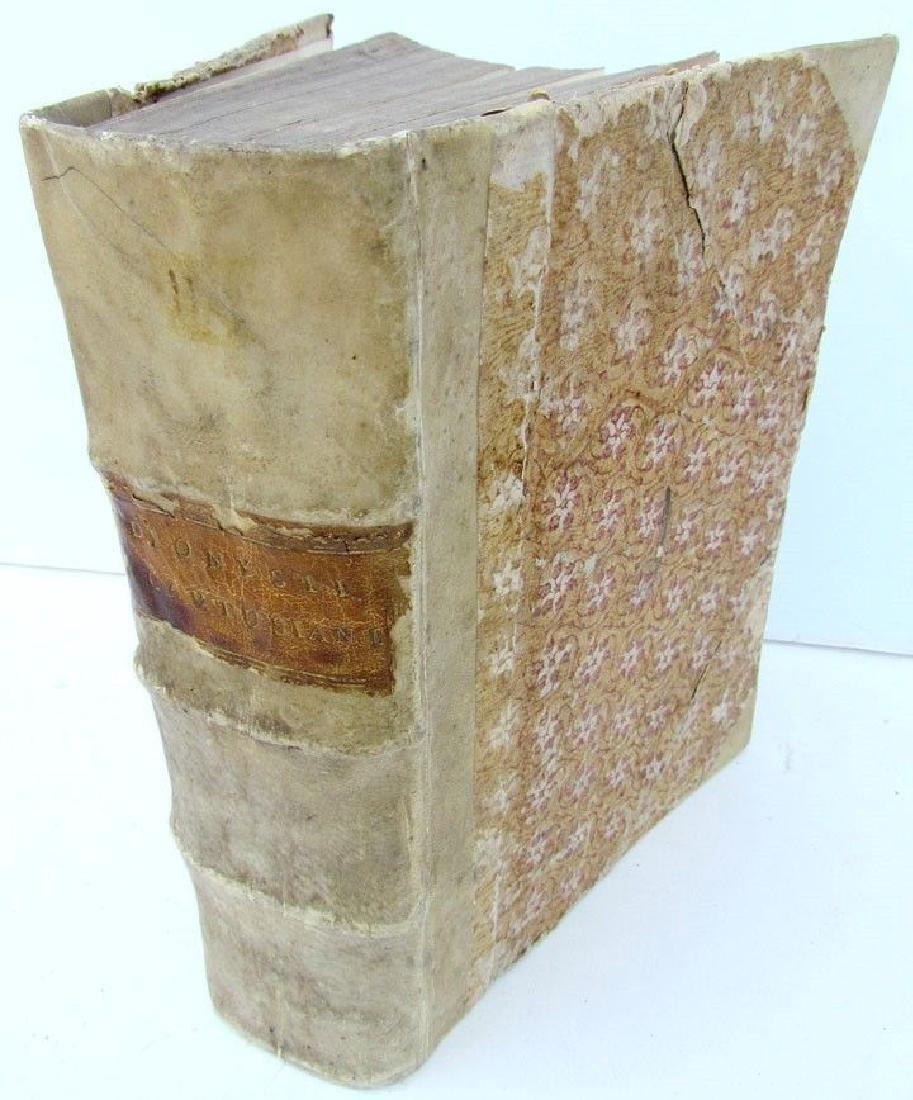 1578 Antique Vellum Bound Bible Commentary D. Dionysii