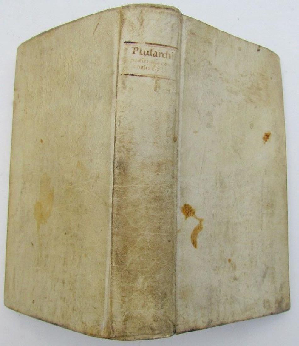 1689 Vellum Bound Antique Book Tractatus Plutarchi