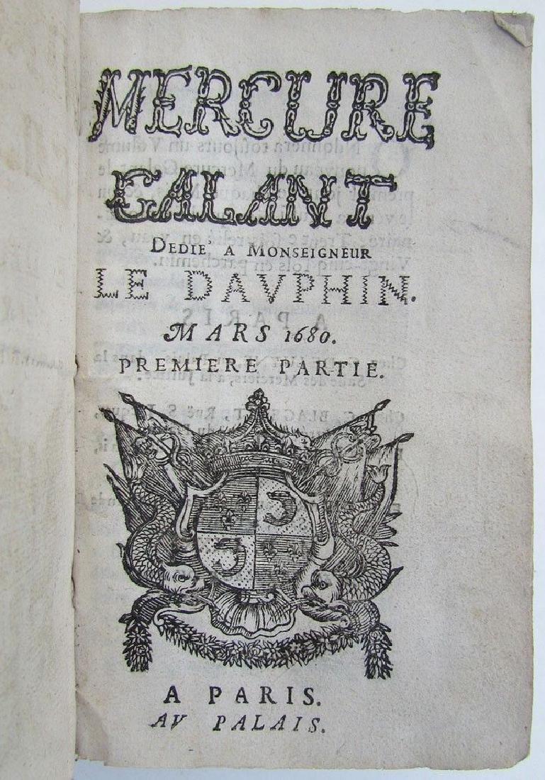 1680 Vellum Bound Antique Illustrated Book Mercure