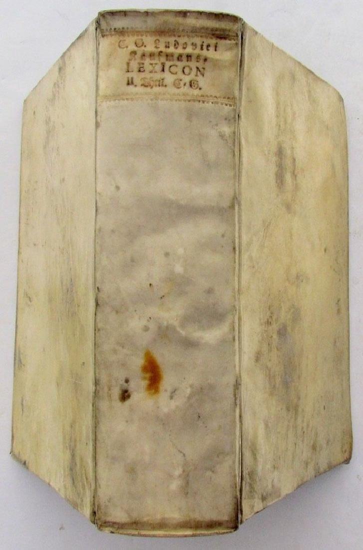 1753 Antique German Vellum Bound Book List Trade Types