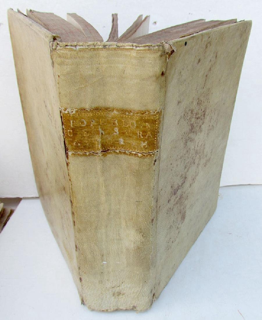 1710 Antique Vellum Bound Book by Thomas Pope Blount