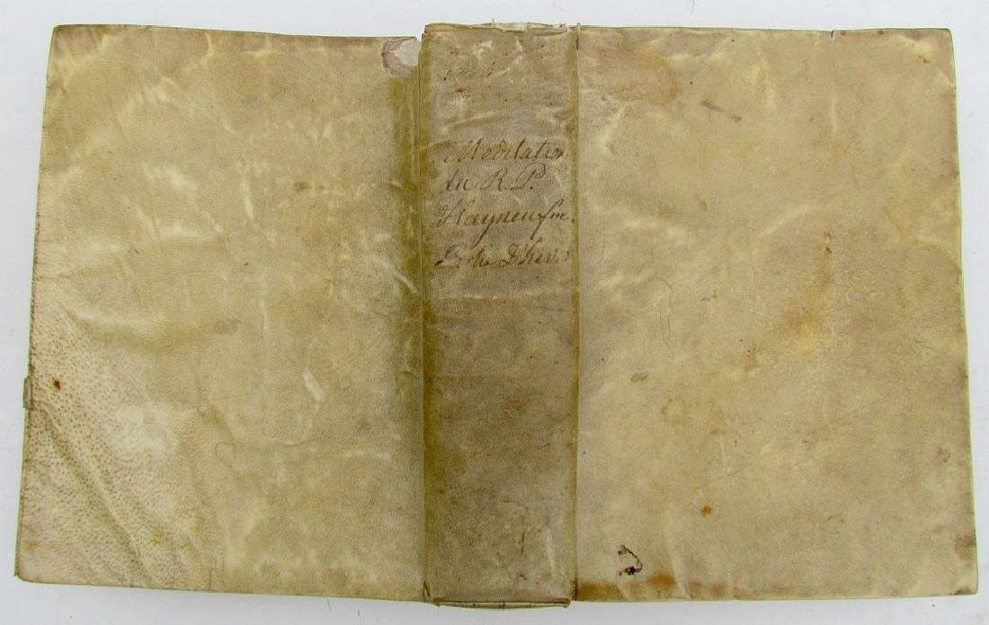 1650 Vellum Bound Antique Book Meditations in French