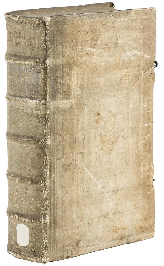 1681 Antique Pigskin Bound Folio Lectiones Morales