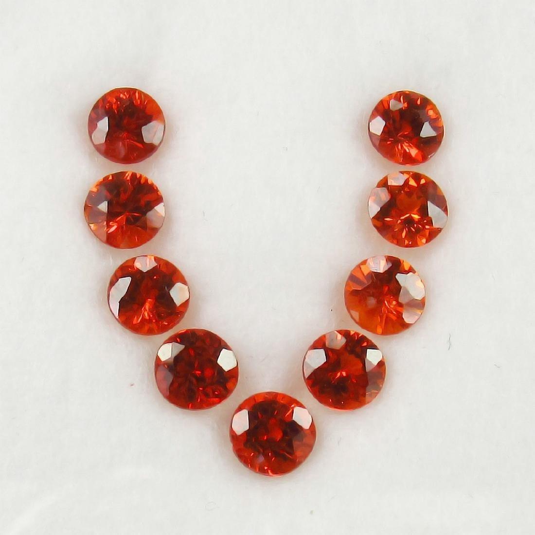 4.54 Carat Loose 9 Spessartite Garnet Necklace Set