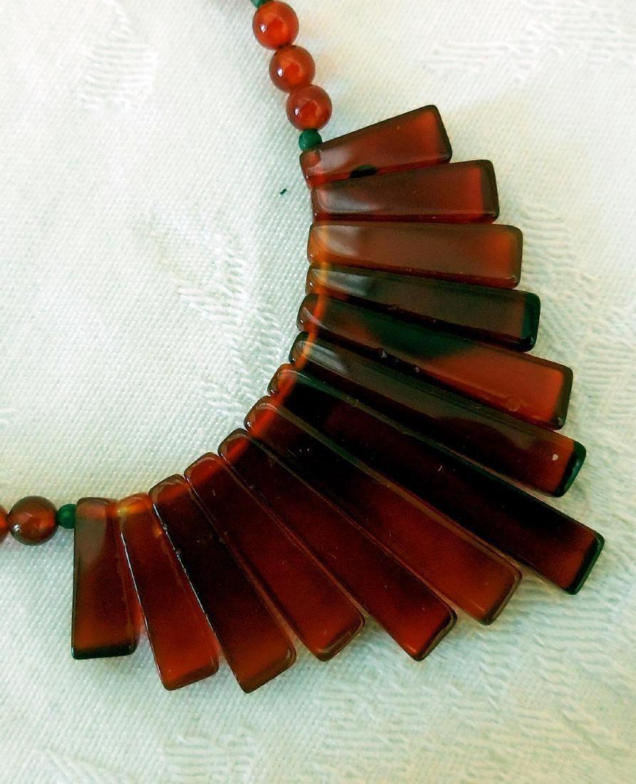 Vintage Art Deco Carnelian Necklace, 1930s-50s