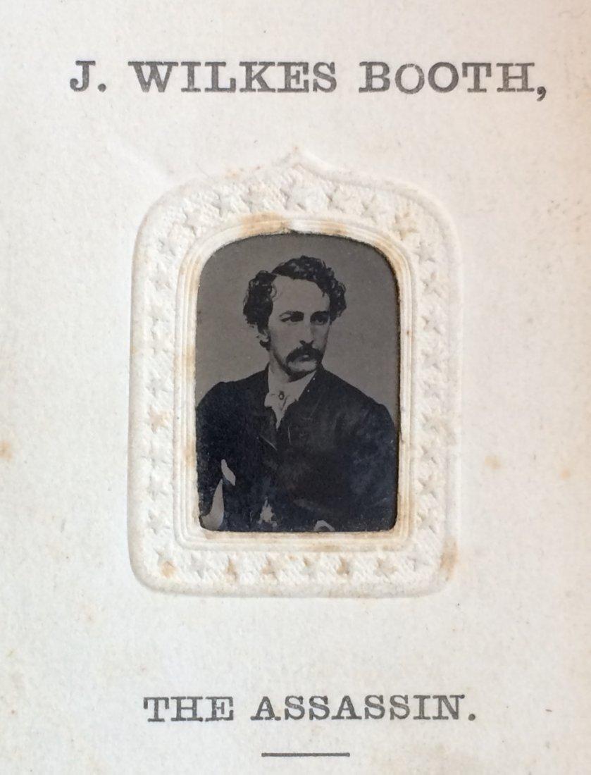 Rare John Wilkes Booth tintype in titled CDV mat