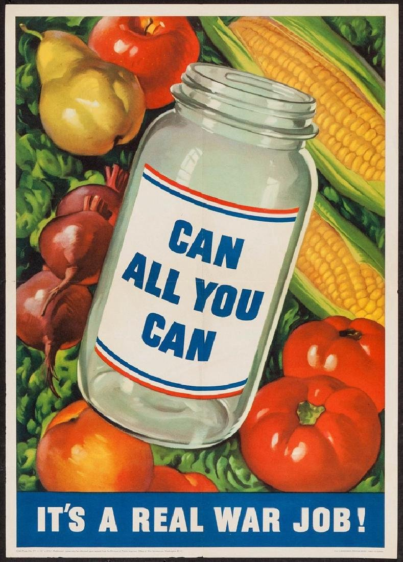 Can All You Can 1943 War Mobilization Poster