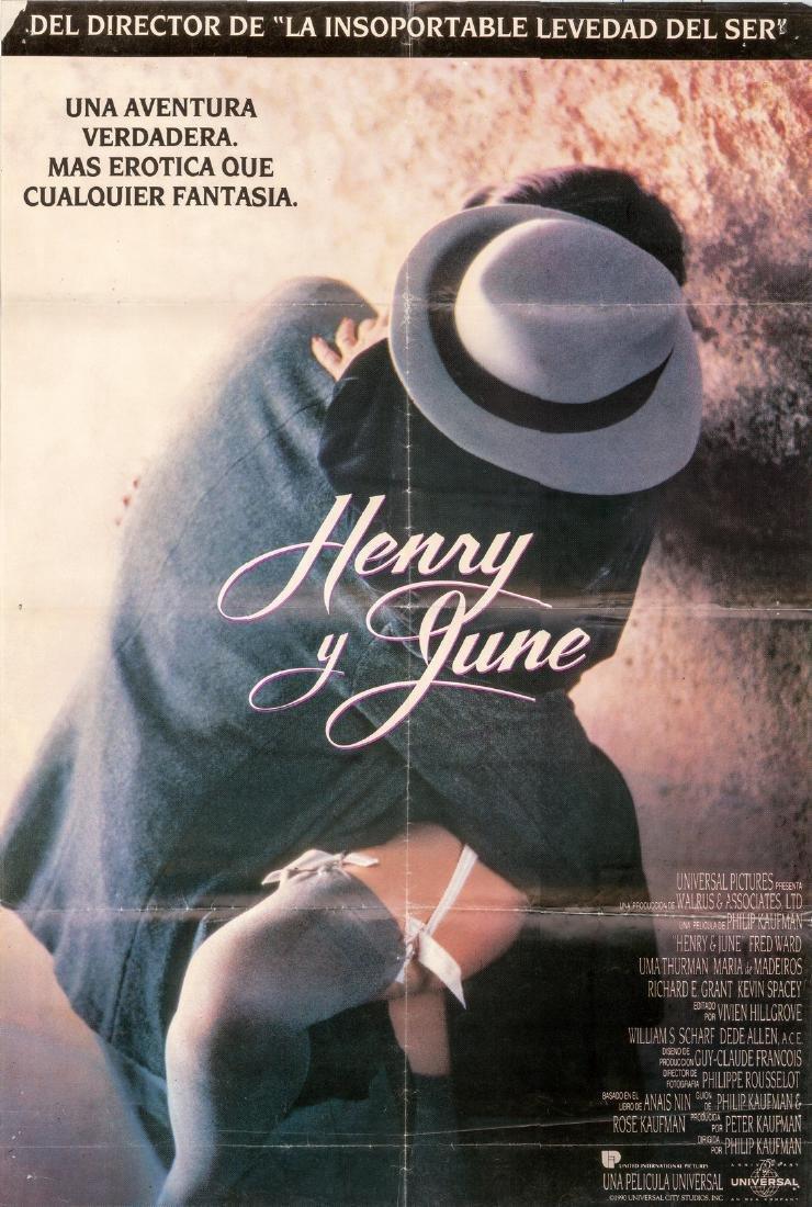 Henry & June 1990 Uma Thurman Spanish Poster