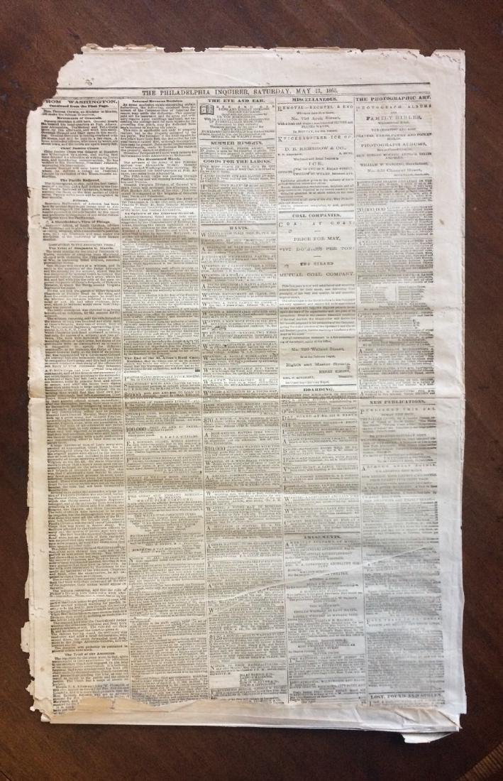 Philadelphia Inquirer 1865 Trial Lincoln Assasination - 3