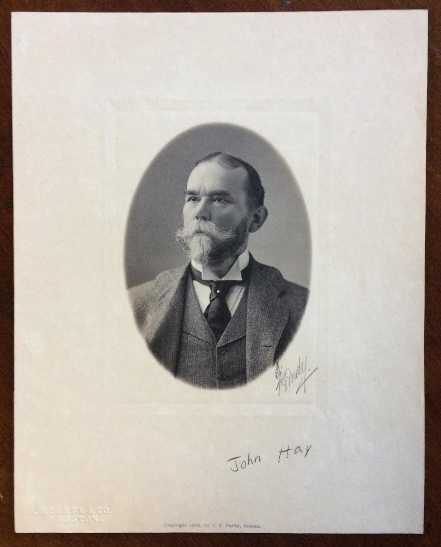 Siver Bromide Photograph of Secretary John Hay