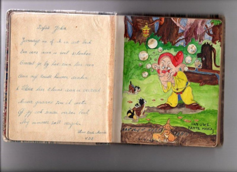 WWII Era Book of Disney Friends and Others, Holland