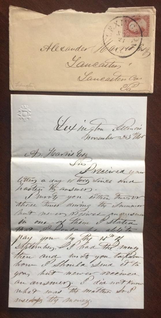George B. Okeson letter about meeting Abraham Lincoln