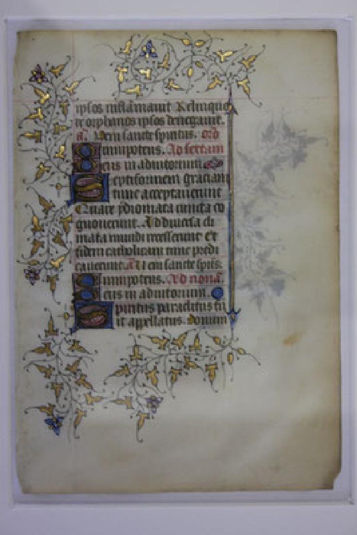 Medieval parchment (around 1390) - 2