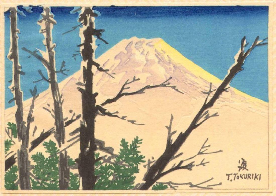 Tokuriki Tomikichiro Woodblock Mount Fuji in Snow