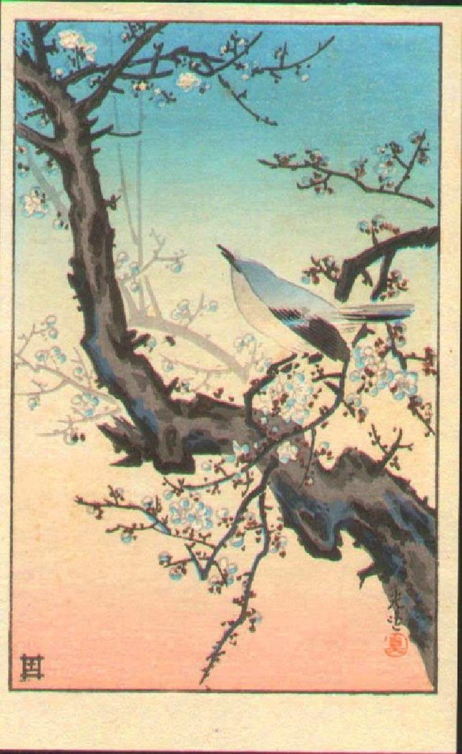 Tsuchiya Koitsu Woodblock Plum Warbler