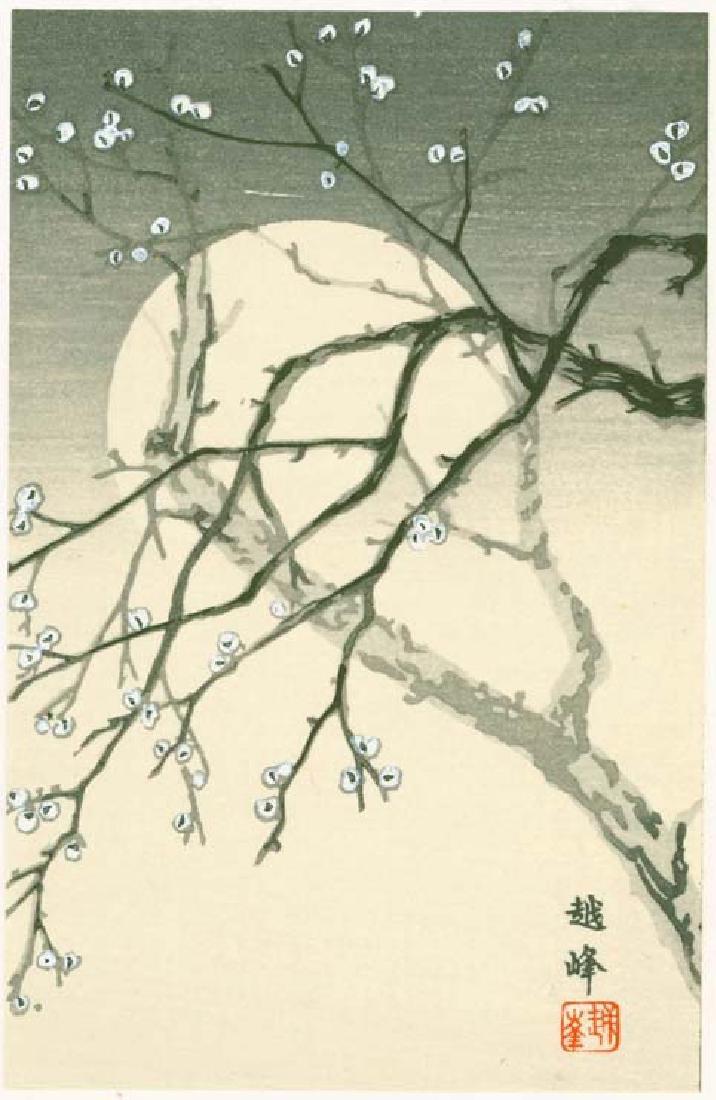 Yoshikawa Koshimine (Etsuho) Woodblock Cherry Blossom
