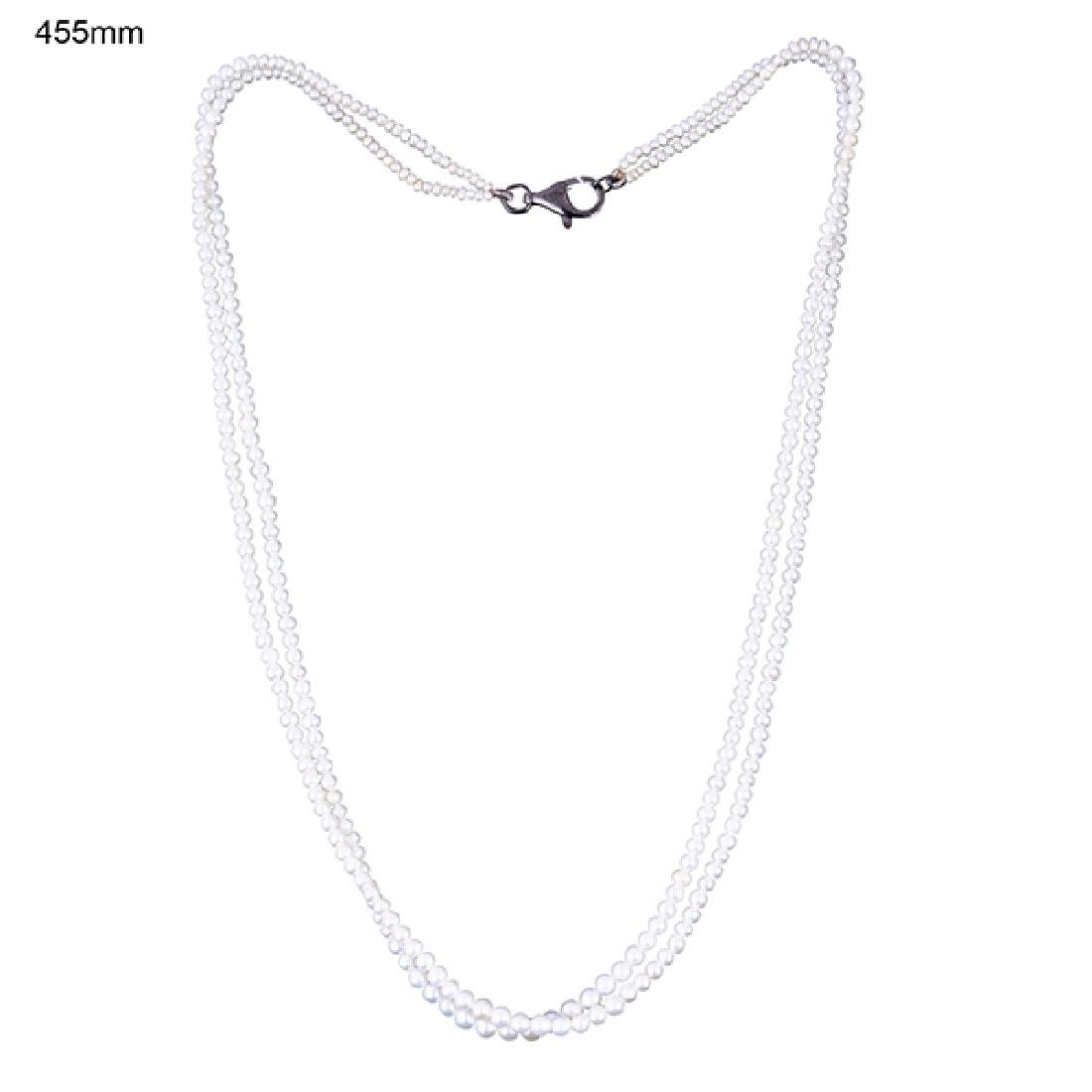 Sterling Silver 44.75 Carat Pearl Necklace