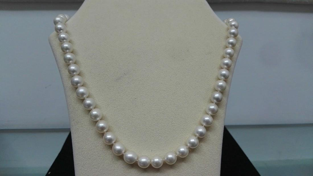 Japanese Akoya Pearl White Color Necklace
