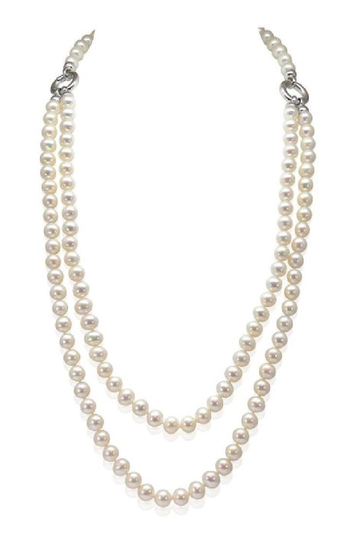 Freshwater Pearls Solid Silver Multifunctional Necklace