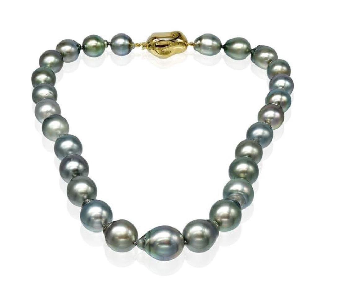 Lustrous Baroque Tahitian Pearl Necklace