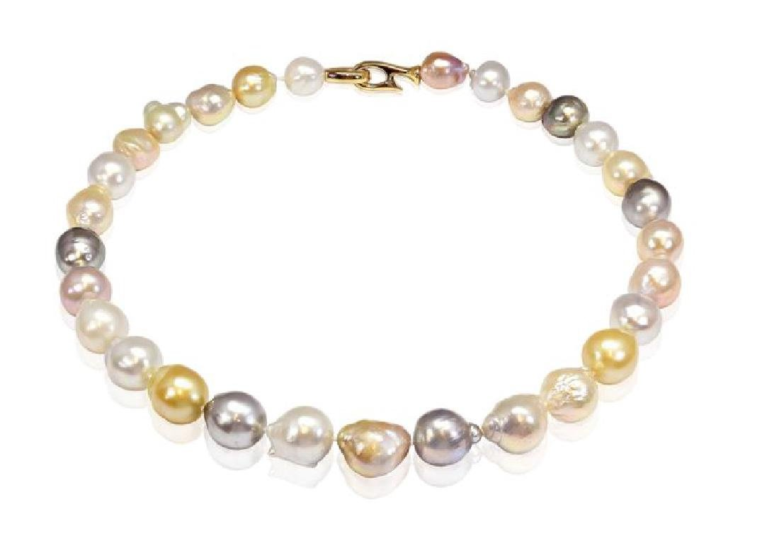 Mix of South Sea, Tahitian & Freshwater Pearl Necklace