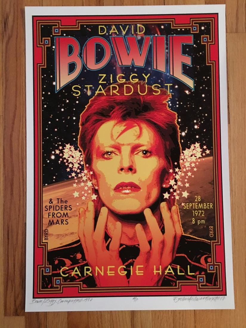 DAVID BYRD - David Bowie - Signed Artists Proof