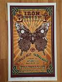 DAVID BYRD  IRON BUTTERFLY  SIGNED POSTER