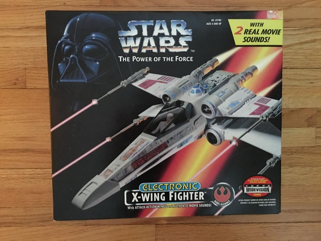 STAR WARS Power of the Force Electronic X-Wing Fighter