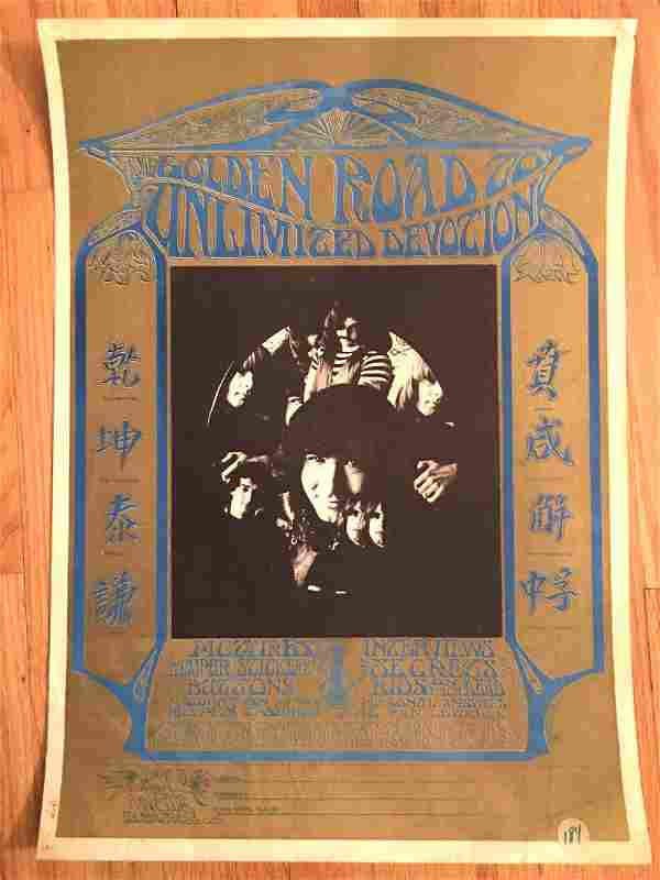 RARE GRATEFUL DEAD FAN CLUB POSTER WITH SIGN UP FORM!