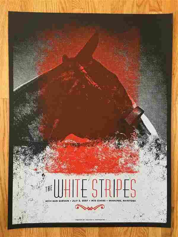 THE WHITE STRIPES Screen Print in MANITOBA - 2007