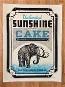 CAKE Screen Print at FOX THEATER - Oakland, CA - 2011 -