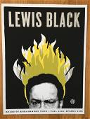 LEWIS BLACK Screen Print for RULES OF ENRAGEMENT TOUR