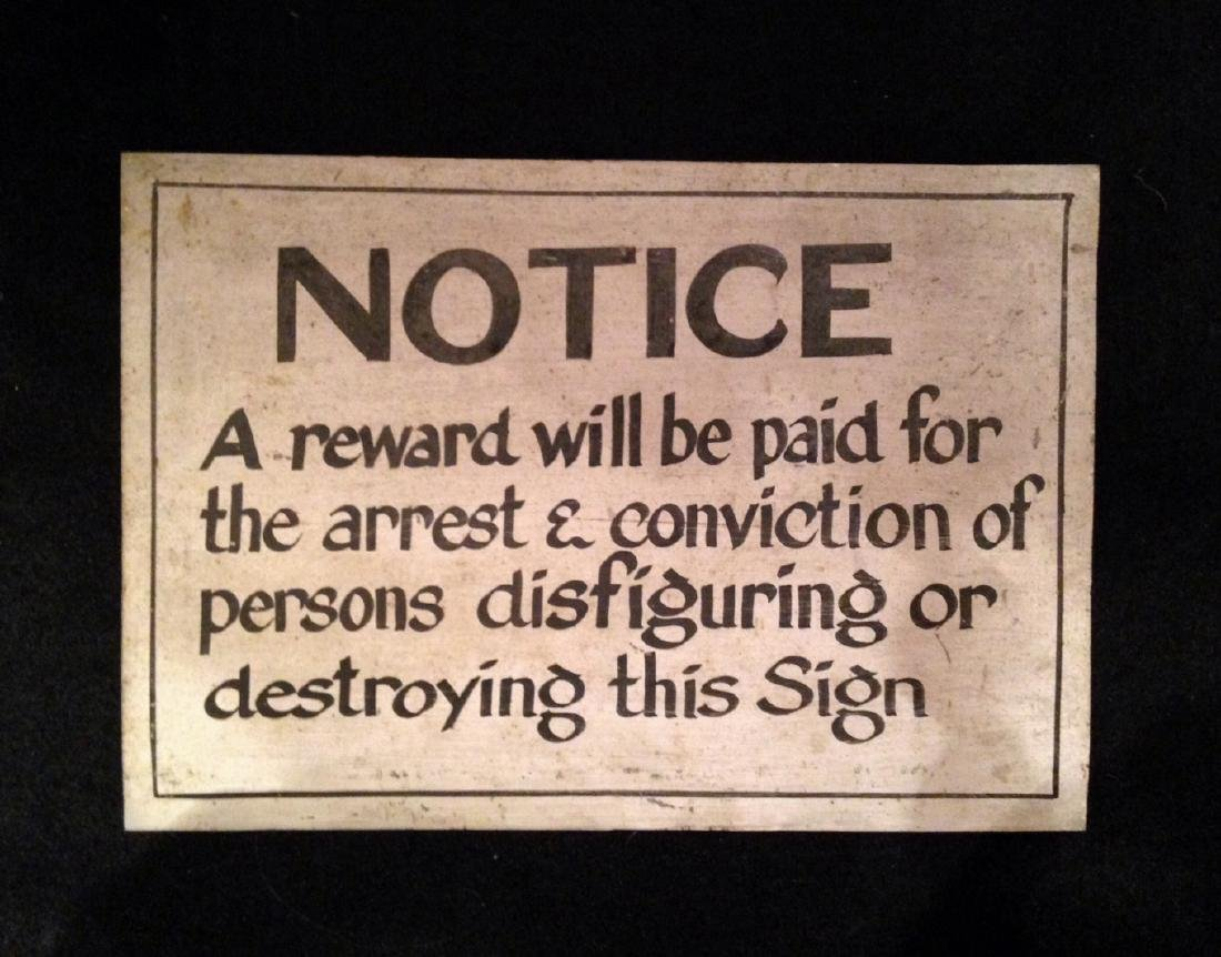 Trade Sign 'Notice'