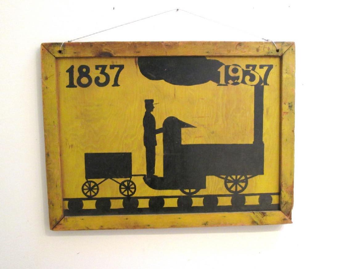 Colorful Steam Locomotive Sign