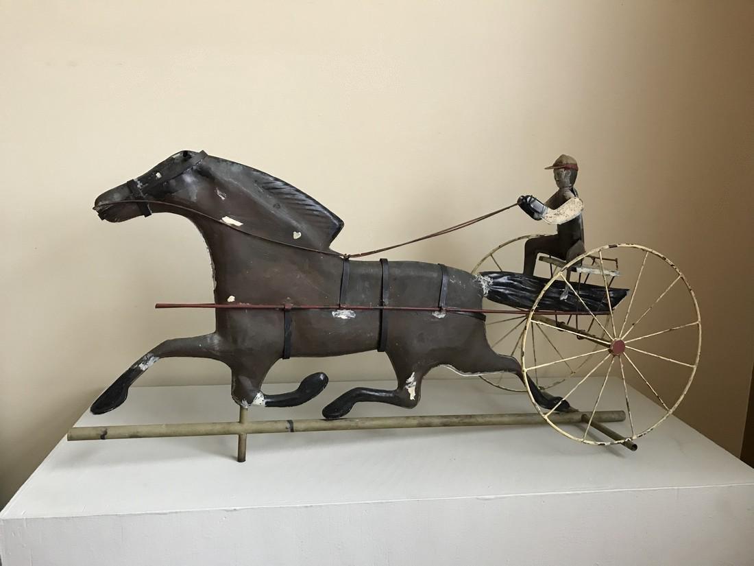 Copper Horse Rider Weathervane