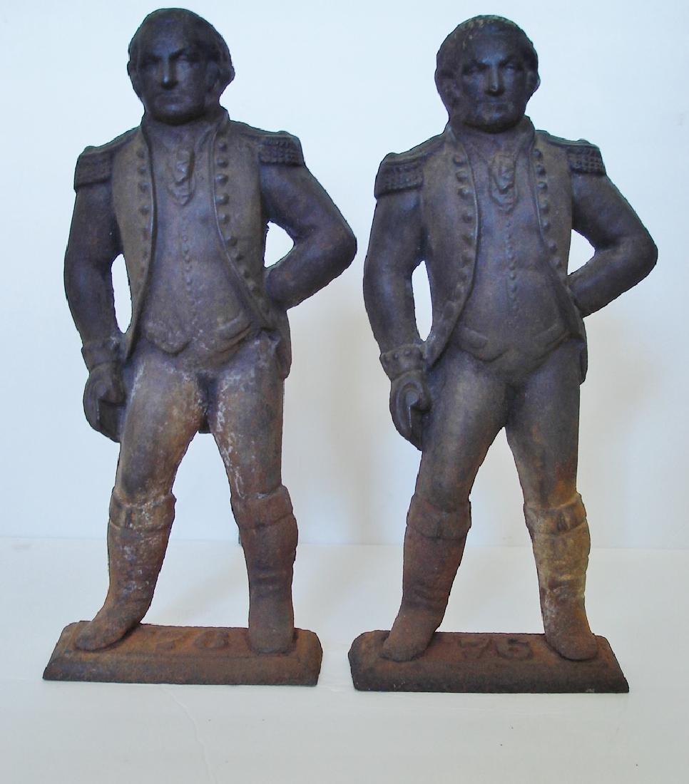 Pair of George Washington Fire Irons
