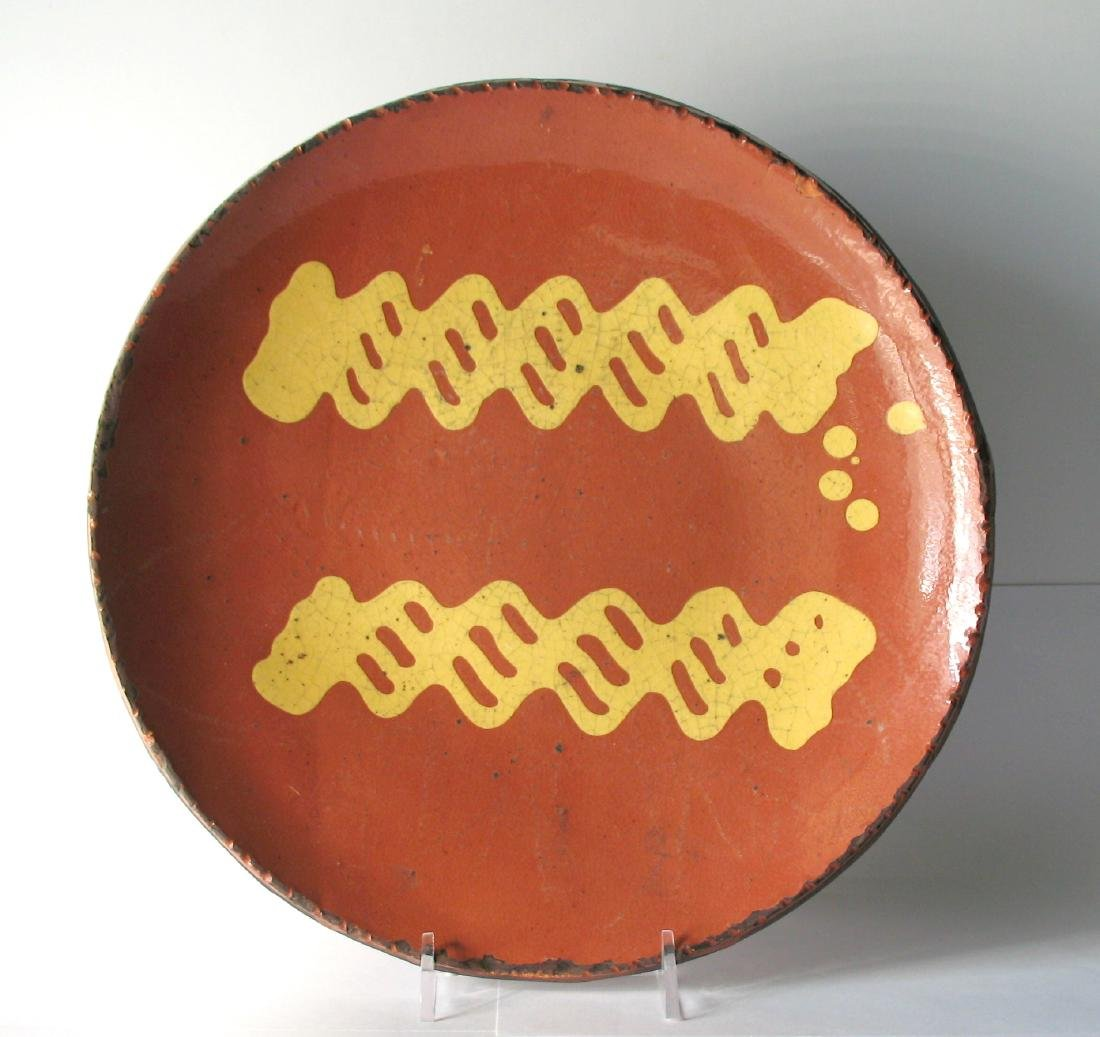 Slipware Plate by Chris Woods of Turtle Creek Pottery