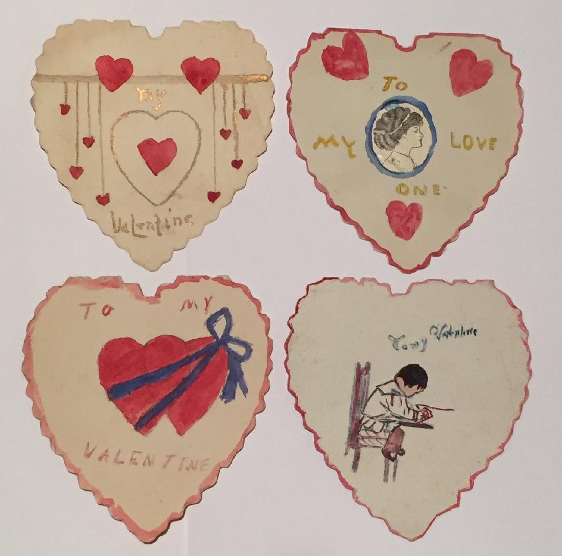 Lot of Four Valentine Hearts